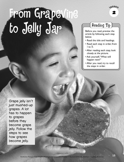 From Grapevine to Jelly Jar