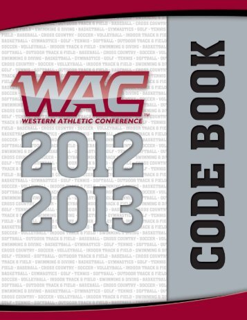 2012-13 WAC Code Book - Western Athletic Conference