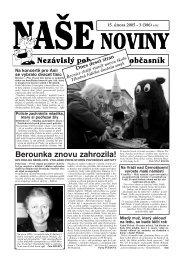 Berounka znovu zahrozila! - naše noviny archiv