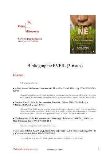 Bibliographie EVEIL pour les 3-6 ans