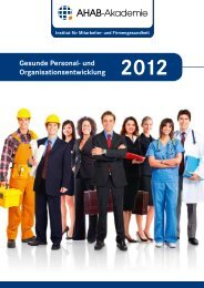 Gesunde Personal- und Organisationsentwicklung - AHAB-Akademie
