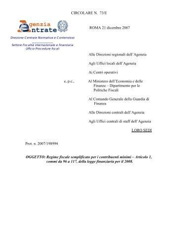 Regime fiscale semplificato per i contribuenti minimi - Ordine dei ...