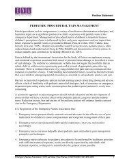 Pediatric Procedural Pain Management - Emergency Nurses ...