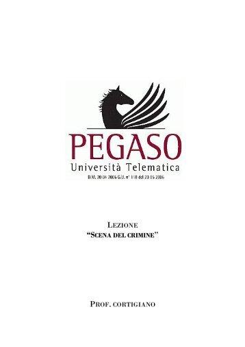 scena del crimine prof . cortigiano - Università Telematica Pegaso