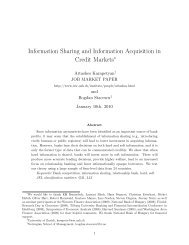Information Sharing and Information Acquisition in Credit Markets
