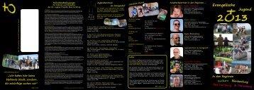 Flyer: Evangelische Jugend 2013 der Propstei Bad Harzburg