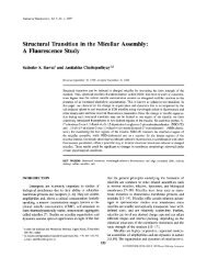 Structural Transition in the Micellar Assembly: A ... - CCMB