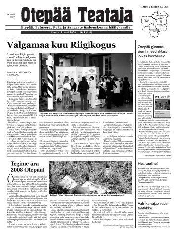 Valgamaa kuu Riigikogus - Otepää vald