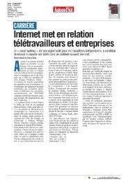 Internet met en relation télétravailleurs et entreprises - L'Atelier