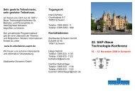 22. SAP-/Neue Technologie-Konferenz - Br-arbeitskreis-sapnt.de