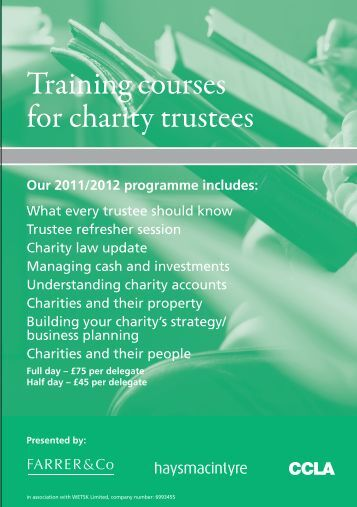 Training courses for charity trustees - CCLA