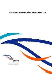 REGLAMENTO DE RÉGIMEN INTERIOR - Copac