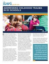 CLC -- Addressing Childhood Trauma in DC Schools--June 2015