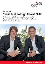 Swiss Technology Award 2012 - ProteoMediX