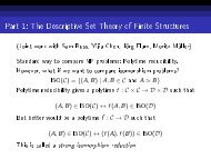 Part 1: The Descriptive Set Theory of Finite Structures