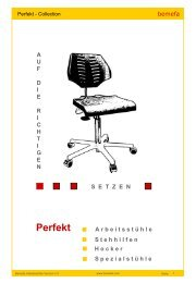 Aktiv - dynamisches Sitzen = Gesundes Sitzen - Bemefa