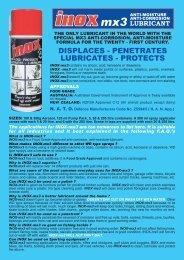 INOX BOOK MX3.FH10 - Lube Control