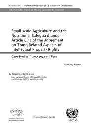 Small-scale Agriculture and the Nutritional Safeguard under ... - ictsd