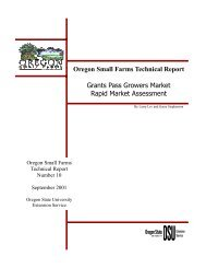 Oregon Small Farms Technical Report Grants Pass Growers Market ...