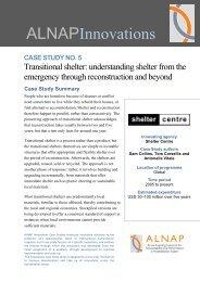 Innovations Case Study on Transitional Shelter - alnap