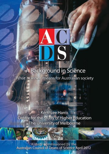 A Background in Science: What science means for ... - ACDS
