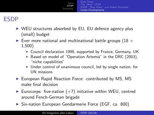 Common Foreign & Security Policy - Kai Arzheimer