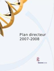 Plan directeur 2007-08 - Genome Canada