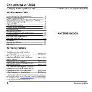 Zoo aktuell 3 / 2003 - Tiergartenfreunde Heidelberg eV