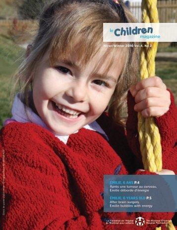 Le Children Magazine - The Montreal Children's Hospital Foundation