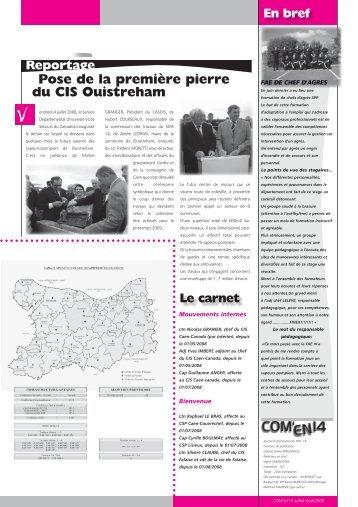 Pose de la première pierre du CIS Ouistreham Reportage - SDIS14