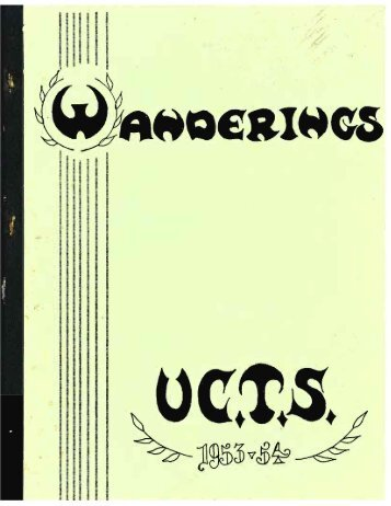 1954 UCTS Student Yearbook Wanderings