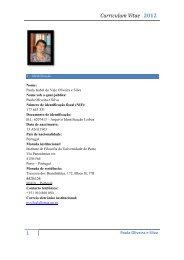 CV (pdf - 2012) - Instituto de Filosofia - Universidade do Porto