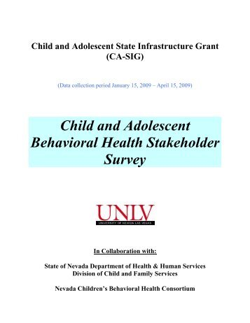 Appendix: Stakeholder Survey - Division of Child and Family Services