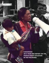karapatan 2012 year-end report on the human rights situation in the ...