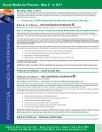 Social Media for Pharma - May 2 - 4, 2011 - Advanced Learning ... - Page 4