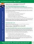 Social Media for Pharma - May 2 - 4, 2011 - Advanced Learning ... - Page 5