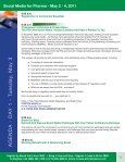 Social Media for Pharma - May 2 - 4, 2011 - Advanced Learning ... - Page 6