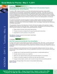 Social Media for Pharma - May 2 - 4, 2011 - Advanced Learning ... - Page 7