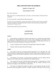 THE CONSTITUTION OF GEORGIA - Parliament of Georgia