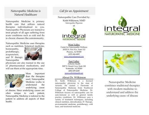 INM Nat Med Brochure - Integral Naturopathic Medicine