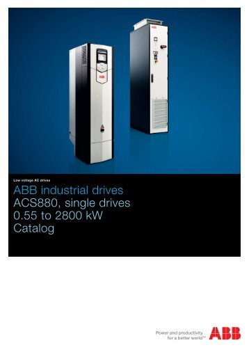 ABB industrial drives ACS880, single drives 0.55 ... - VAE ProSys sro