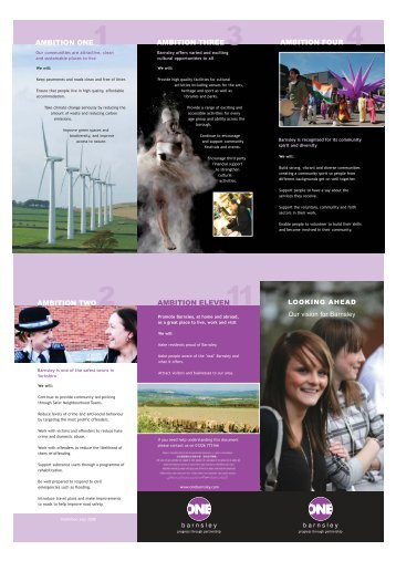 One Barnsley - One Vision Leaflet - August 2008 (pdf) - Voluntary ...