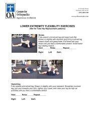 LOWER EXTREMITY FLEXIBILITY EXERCISES