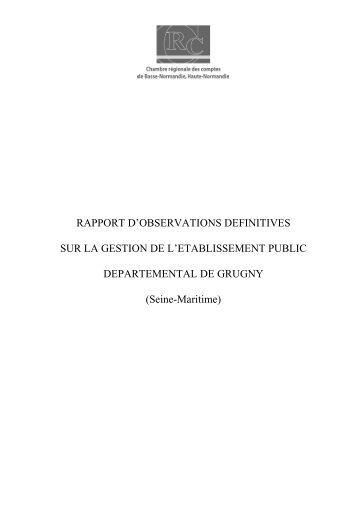 Rapport d'observations définitives (PDF, 389,32 ... - Cour des comptes
