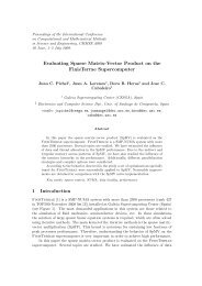 Evaluating Sparse Matrix-Vector Product on the FinisTerrae ... - Arcos
