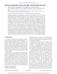 Thermal conductivity of pure silica MEL and MFI zeolite thin films