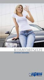 KOMFORTSITZE - König Komfort- und Rennsitze GmbH