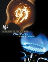 Fiscal 2002-2003 - Ontario Energy Board