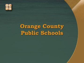 PreSub Presentation - Orange County Public Schools