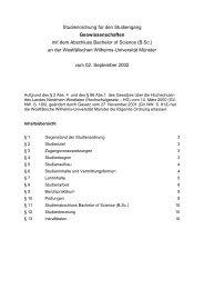 B.Sc. - ZSB - Westfälische Wilhelms-Universität Münster